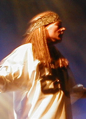 Axl Rose during Guns N' roses Belgium show 2002